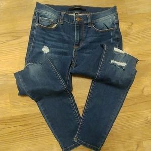 Harper Skinny Stretch Distressed Jeans